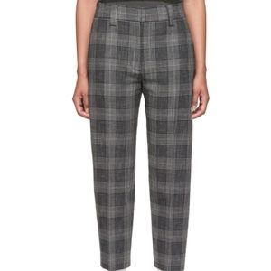 CLEO // gray plaid tapered chinos